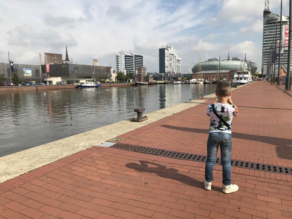 Havenwelten, het nieuwe gedeelte van Bremerhaven.