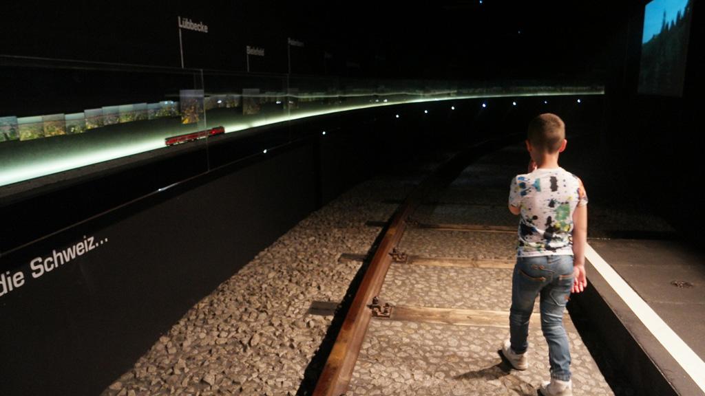 De start van onze reis bij Klimahaus. Met de trein naar Zwitserland.