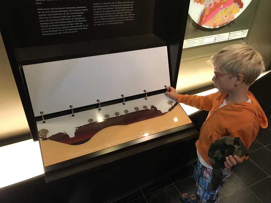 In het Moor Museum vindt je alles rondom de geschiedenis van het veengebied in Emsland. Alle bordjes zijn in het Nederlands en Duits.
