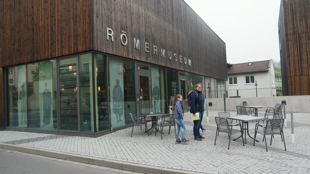 Het Romeinsmuseum in Osterburken is te vinden in dit moderne gebouw.