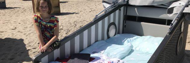 Sleeper beach basket, bijzonder overnachten in Travemünde met kinderen