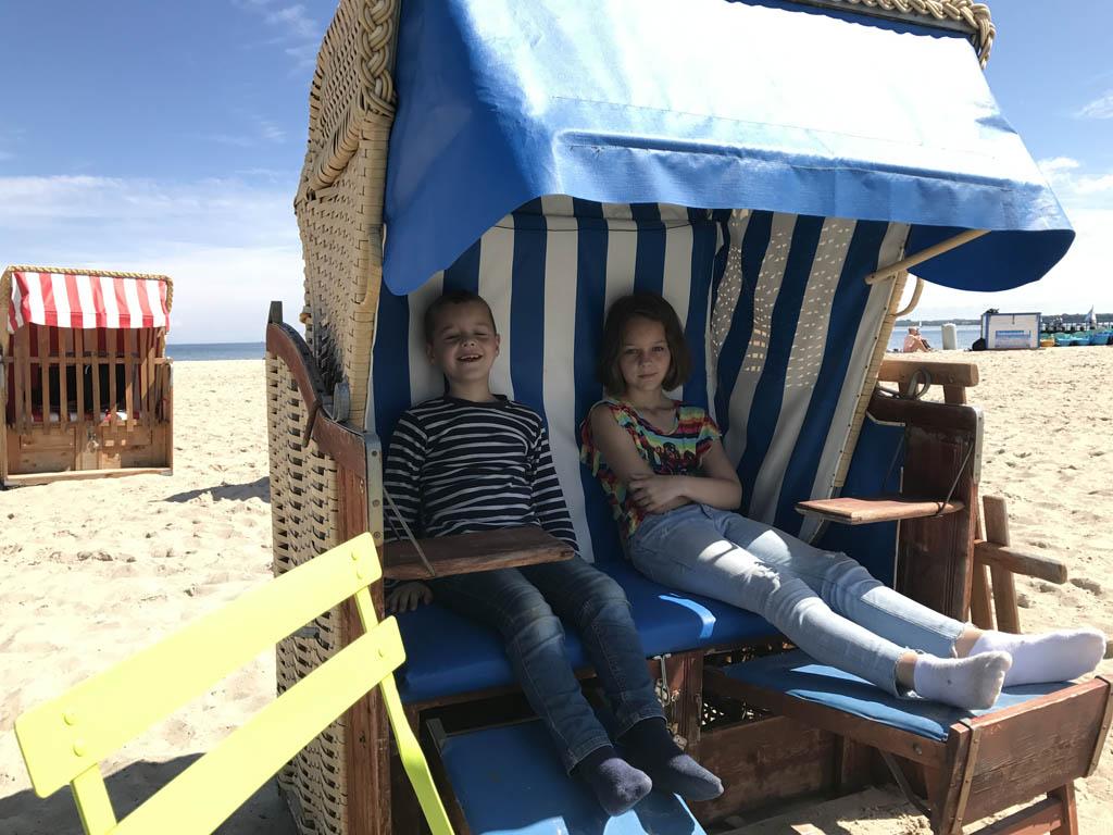 Zitten in een strandkorf is al een belevenis op zich.