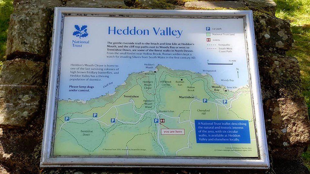 We hebben de smaak van het wandelen te pakken en gaan Heddon Valley ontdekken.