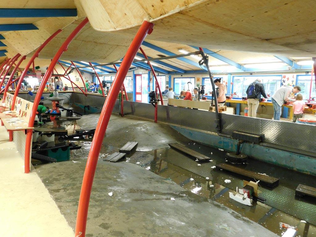 De plek om je zelfgemaakte bootje te testen