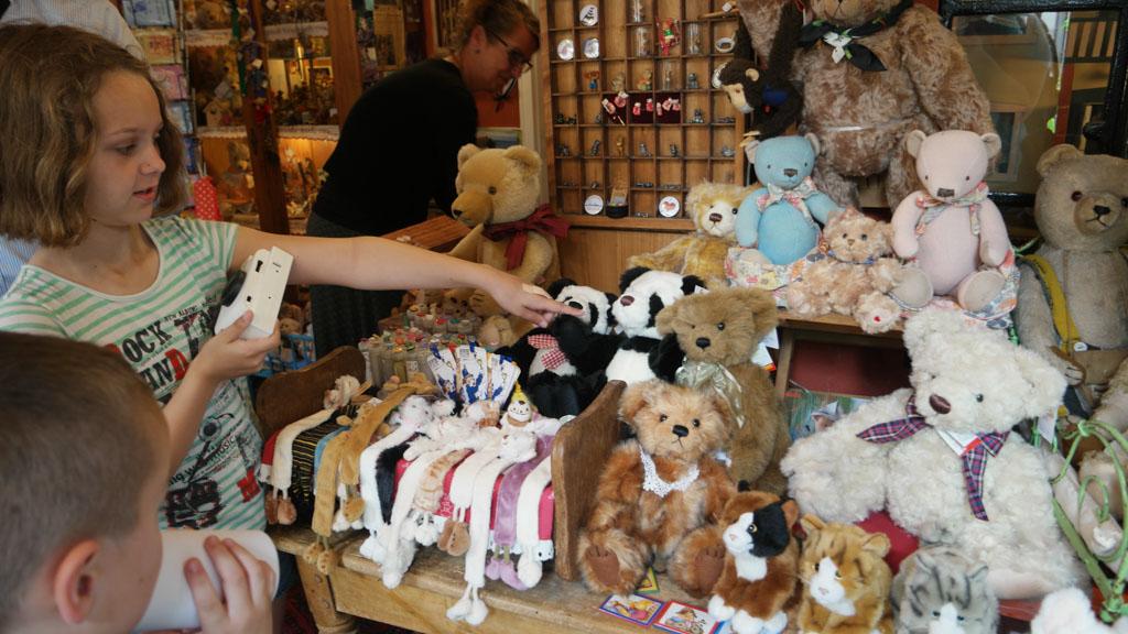 Ouderwets teddyberen winkeltje.