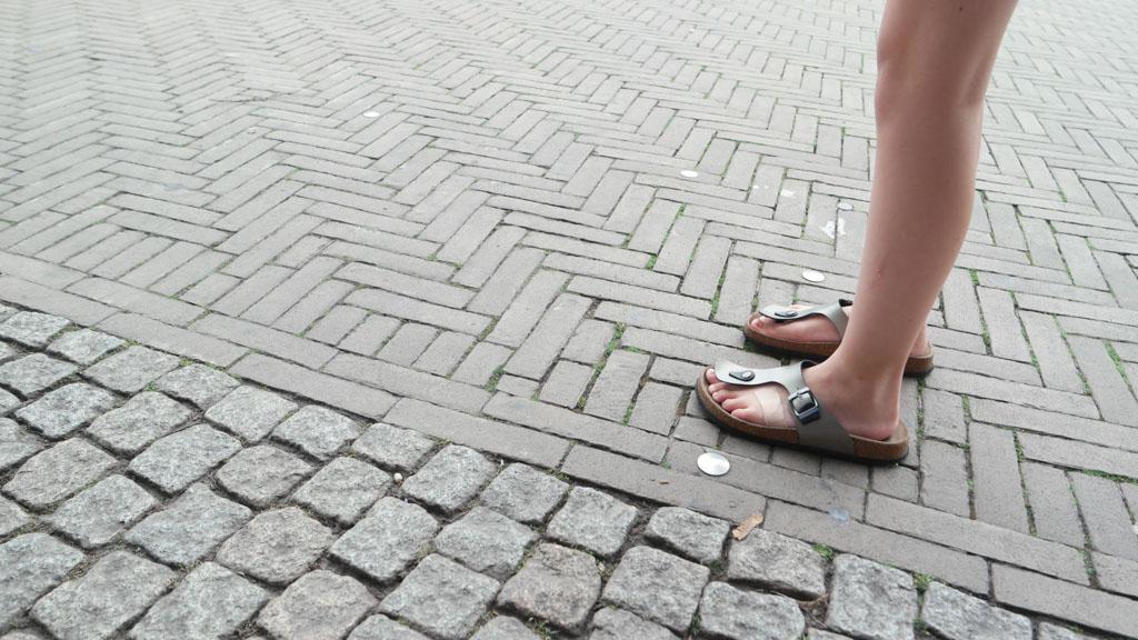 Leuk om te doen tijdens een stedentrip Bremen met kinderen: de 'stipjes-route' volgen.