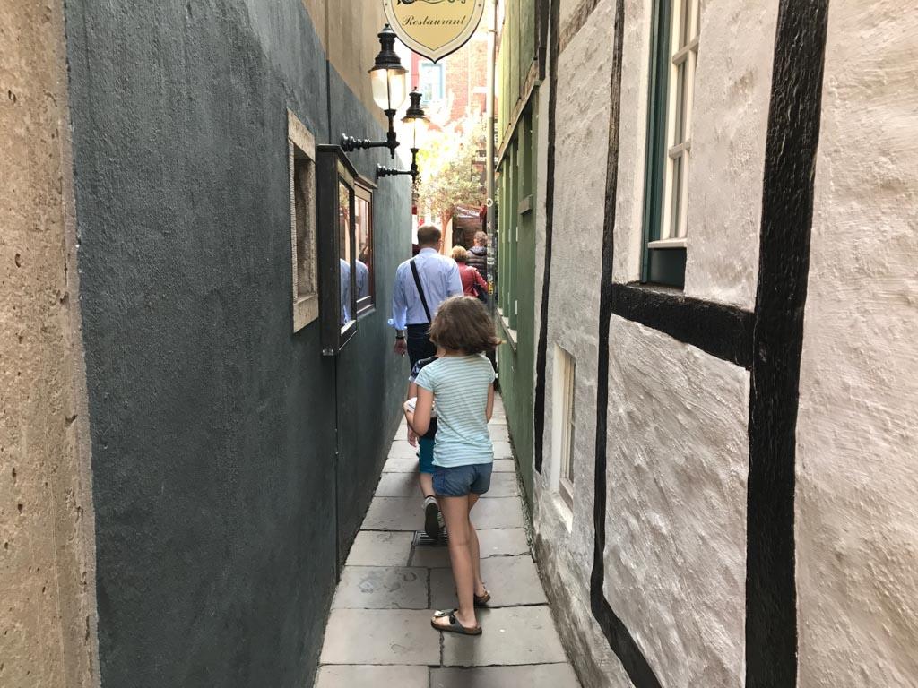 Het smalste straatje van Bremen.
