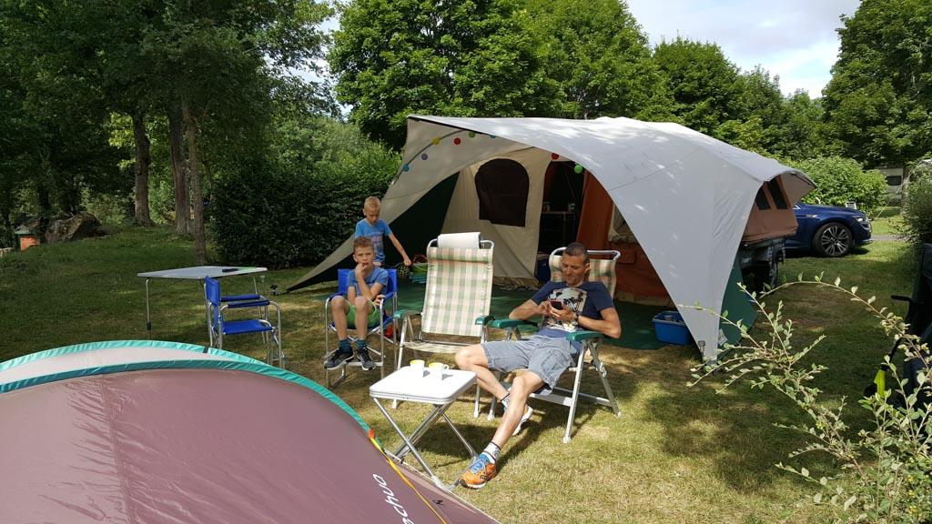 Ons heerlijke plekje op camping le Viginet.