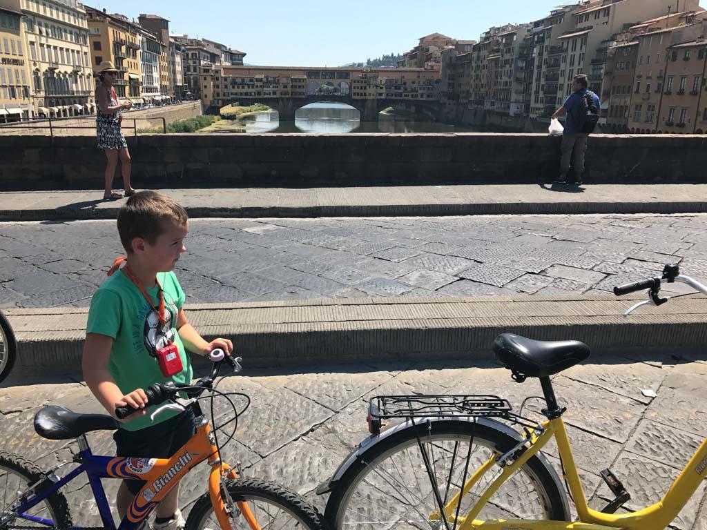 Zicht op Ponte Vecchio.