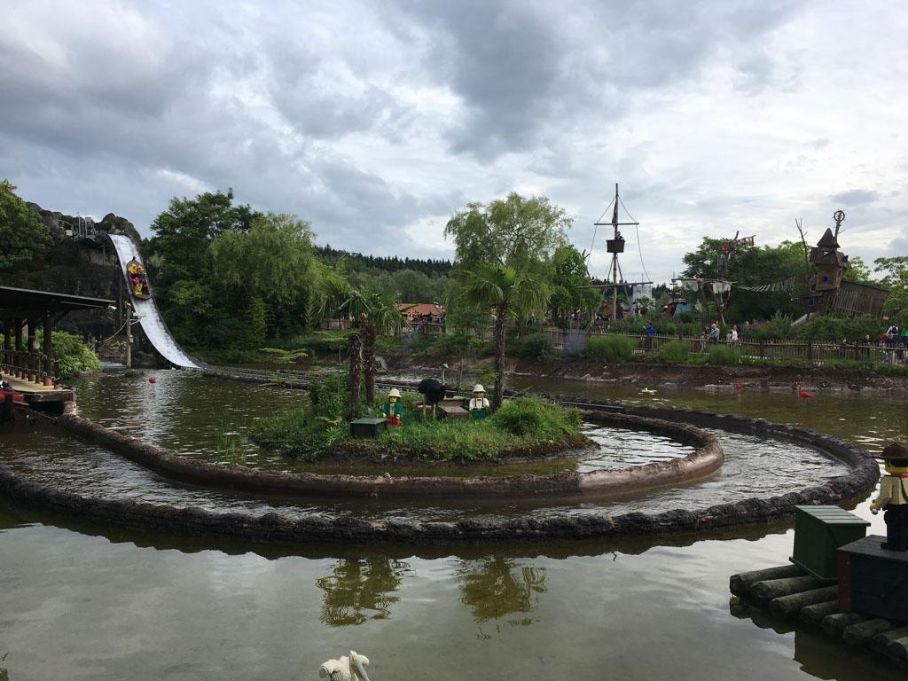 De wildwaterbaan