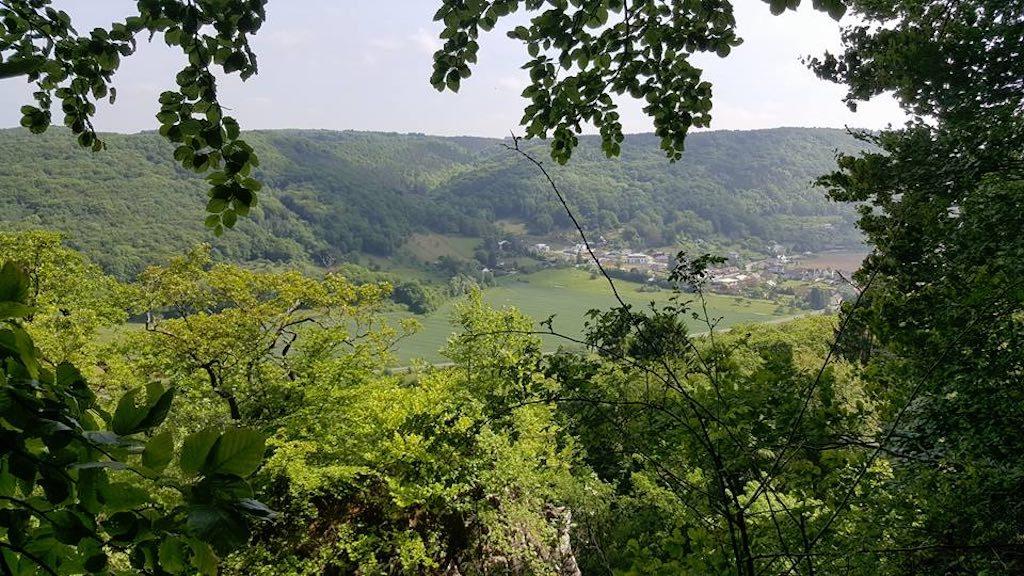 Wandelen op de route van de Mullerthal Trail met kinderen en genieten van dit soort uitzichten.