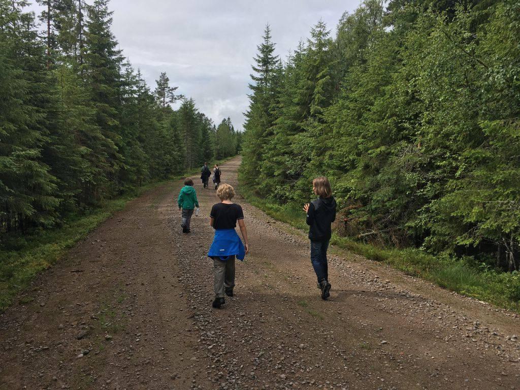Een hele enkele keer lopen we over een gruisweg