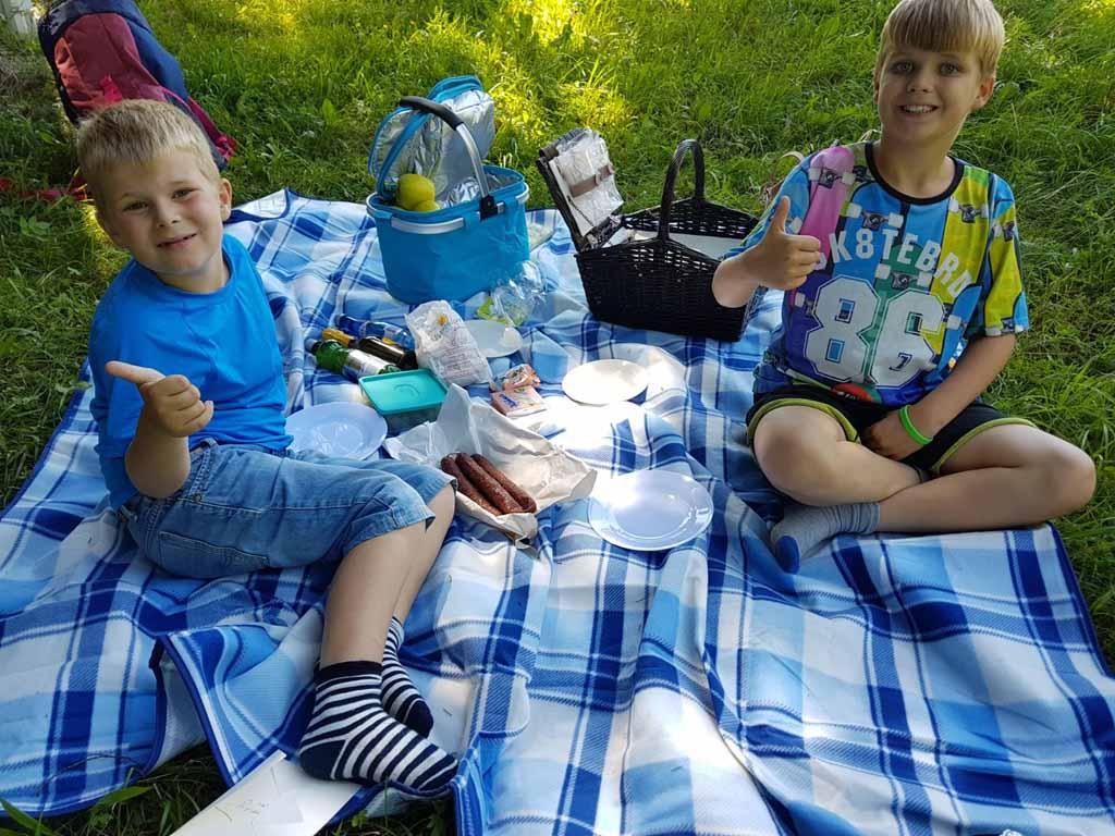 Wat is deze picknick leuk en lekker