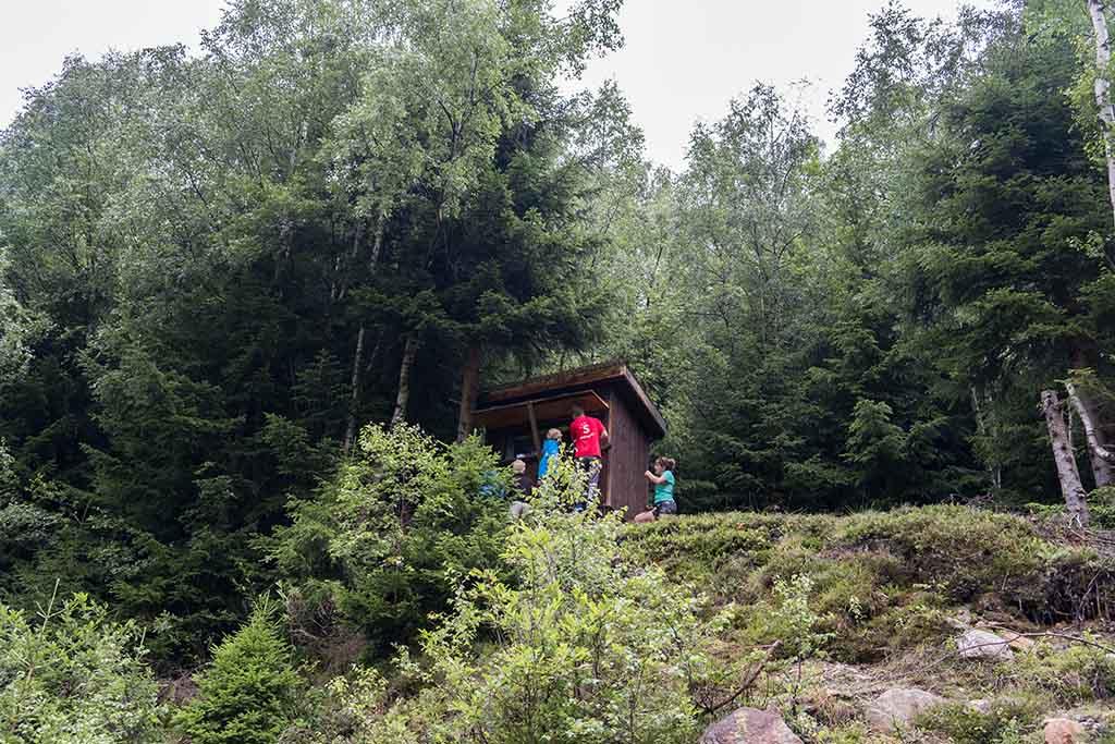 Klimmen naar de hut