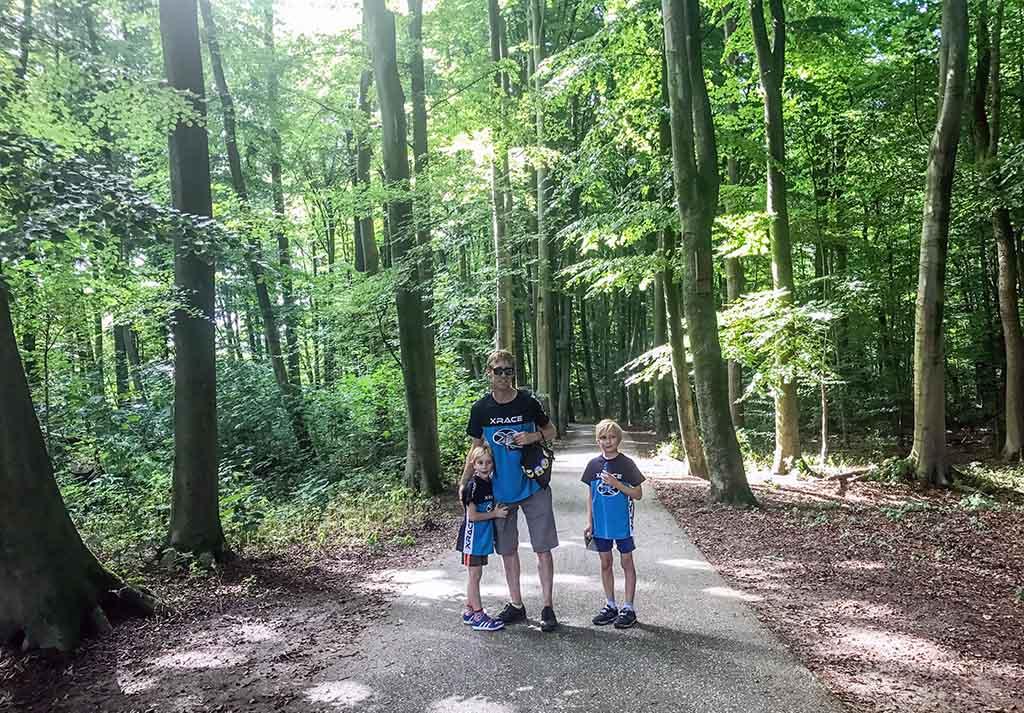 De Xrace in Rotterdam vindt plaats in het mooie Kralingse bos.