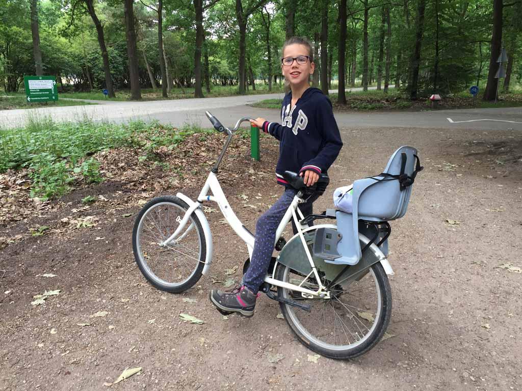 Apeldoorn met kinderen fietsen in np de hoge Veluwe