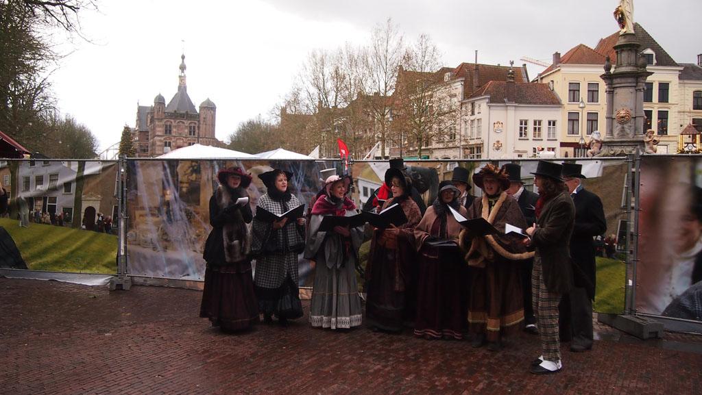 Een van de optredens tijdens het Dickens Festijn.