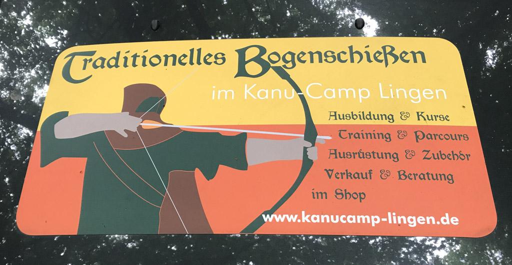 kanoen over de Ems, boogschieten bij kanu camp Lingen