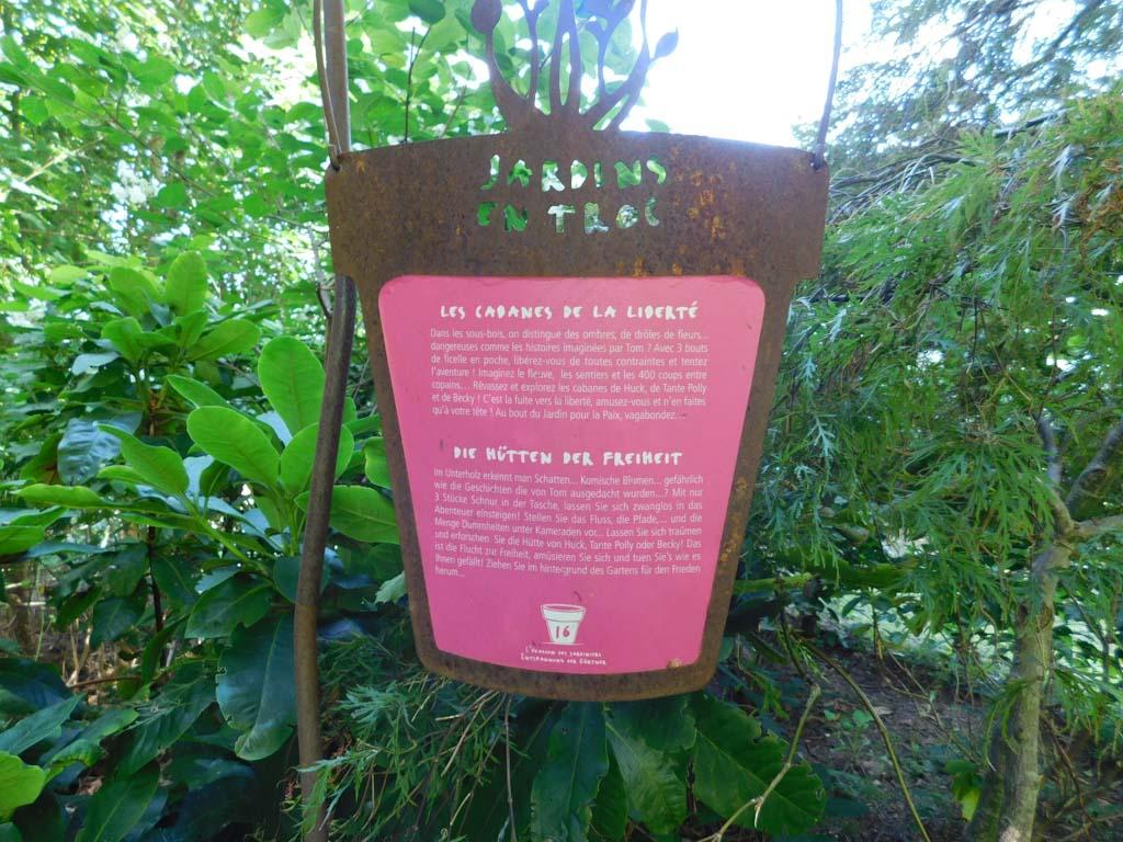Voor wie wil is er meer informatie over Jardin pour la Paix.