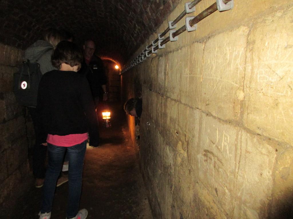 Veel gangen bestaan voor een deel uit mergel