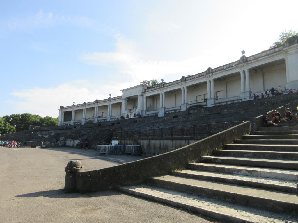 Het stadion, oftewel de Esplanade op de citadel van Namen
