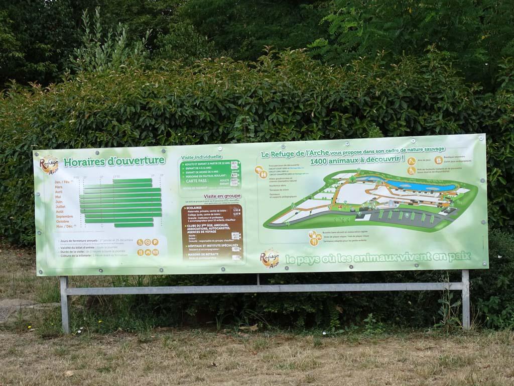 Het infopark geeft een goed overzicht van het park.