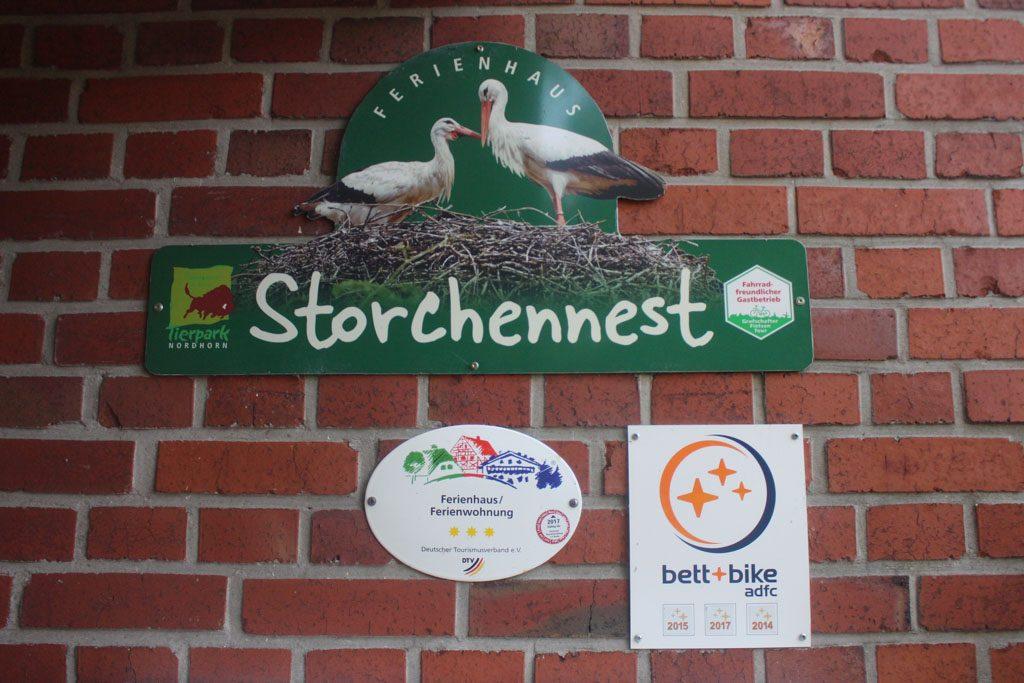 Een van de vakantiewoningen van Tierpark Nordhorn.