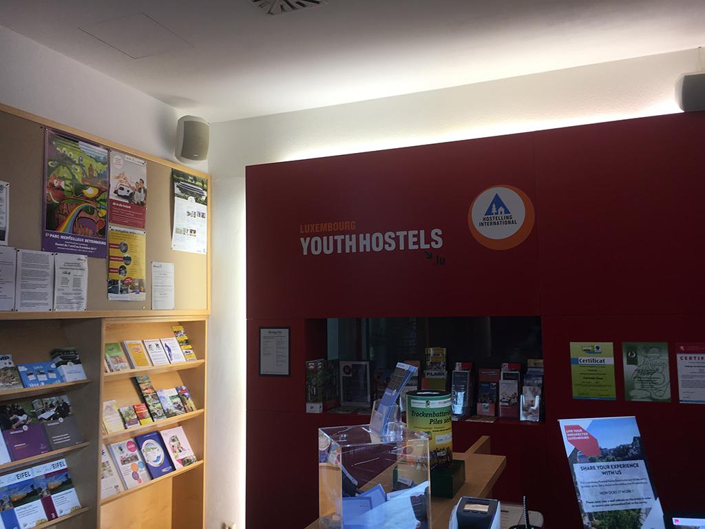 De entree van youthhostel Echternach