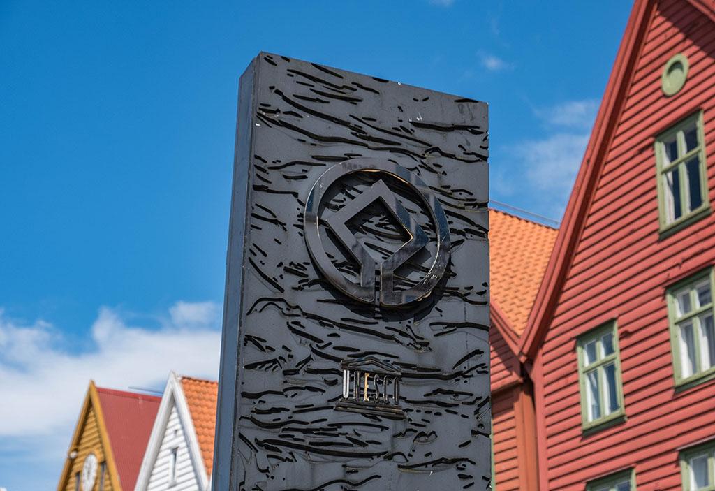 De wijk Bryggen in bergen staat op de UNESCO-werelderfgoedlijst