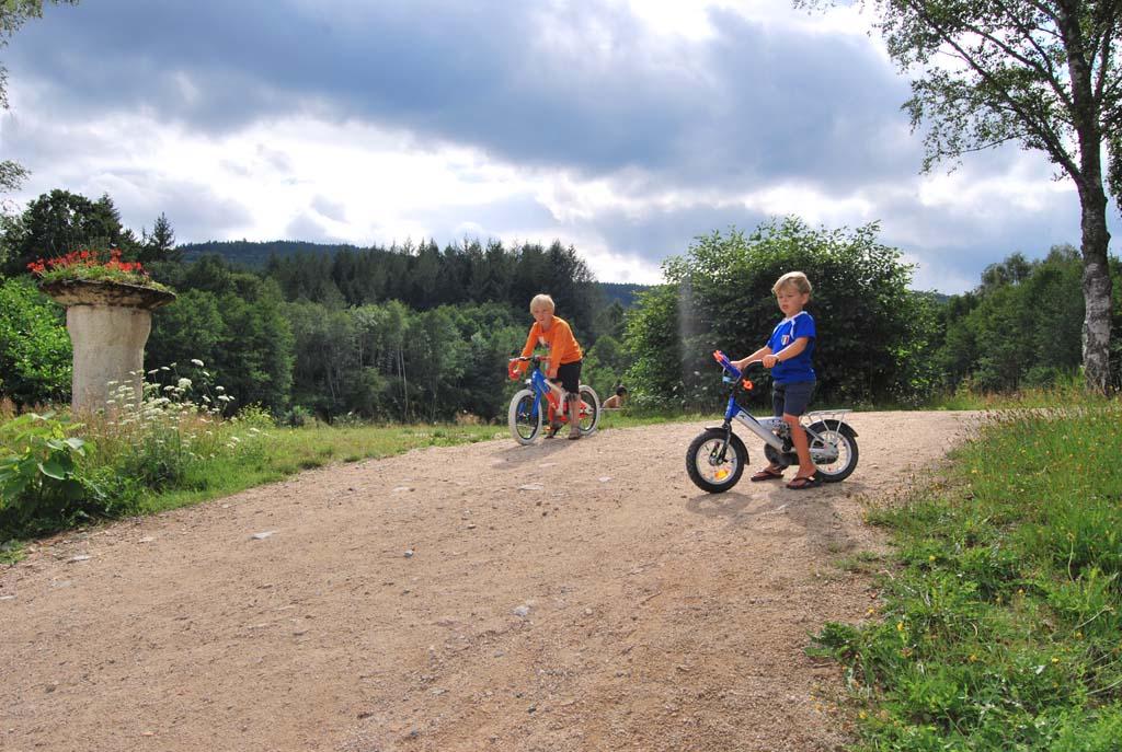 Heerlijke hellingen op Camping Le Paradou om samen met je vriendjes vanaf te racen. Een rondje rond het meer is ook geliefd bij de jongens.