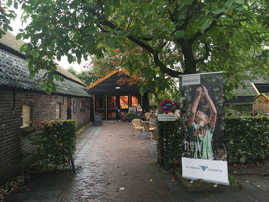 De ingang van natuurcentrum De Maashorst.