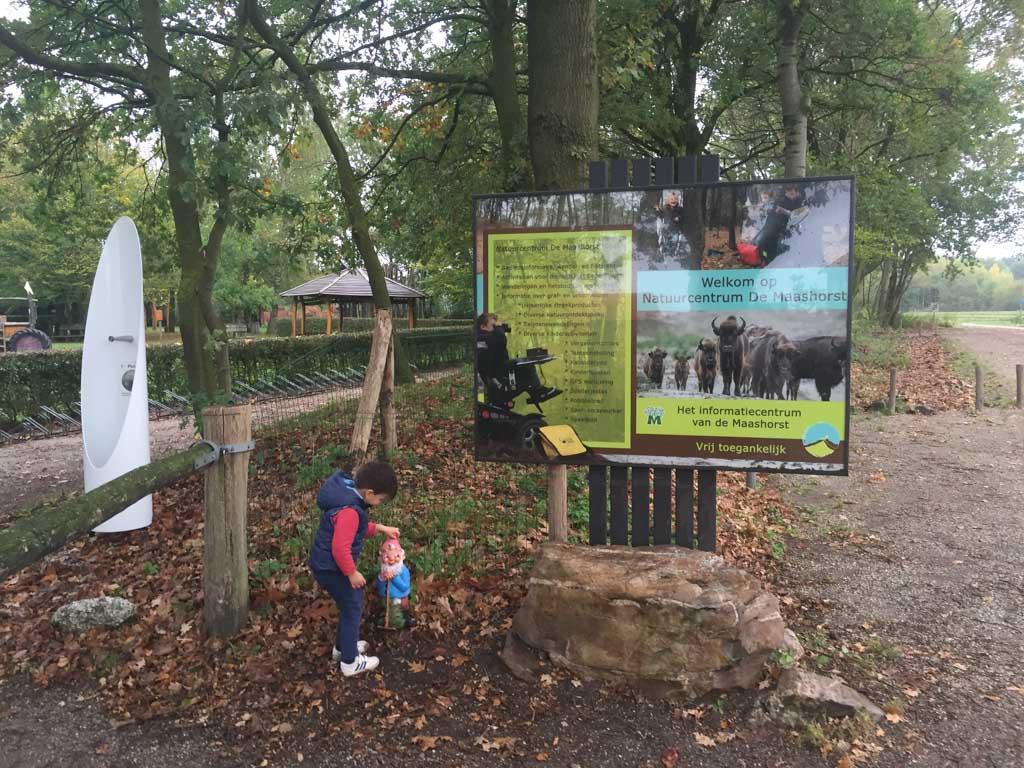 De Maashorst is het startpunt van het kabouterpad, een leuke wandeling voor de allerkleinste.