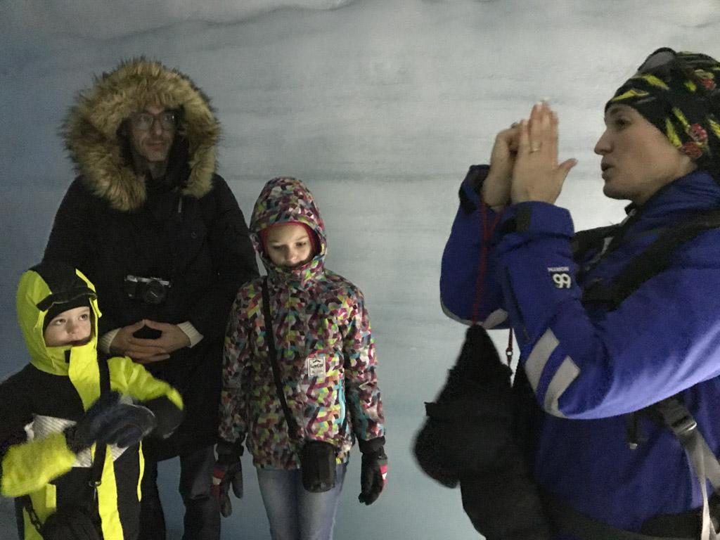 Uitleg over de werking van de gletsjer.