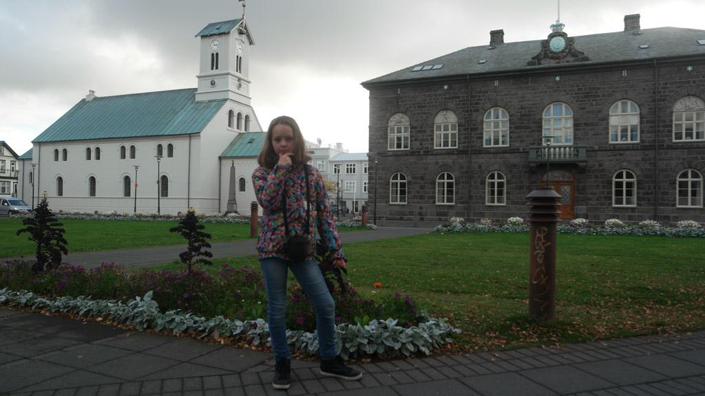 Typisch IJslands, die witte kerkjes.