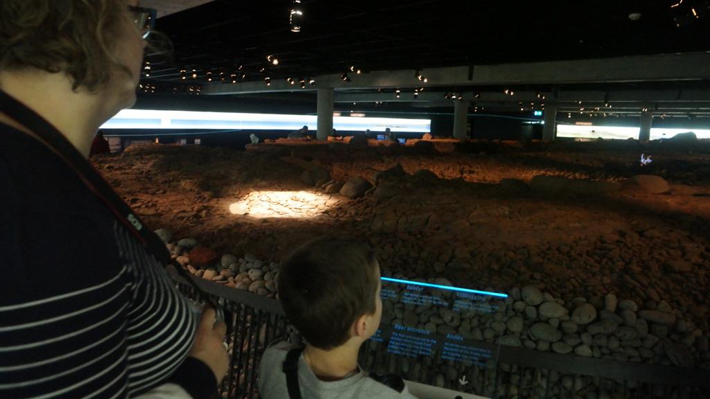 De opgraving die centraal staat in het museum.