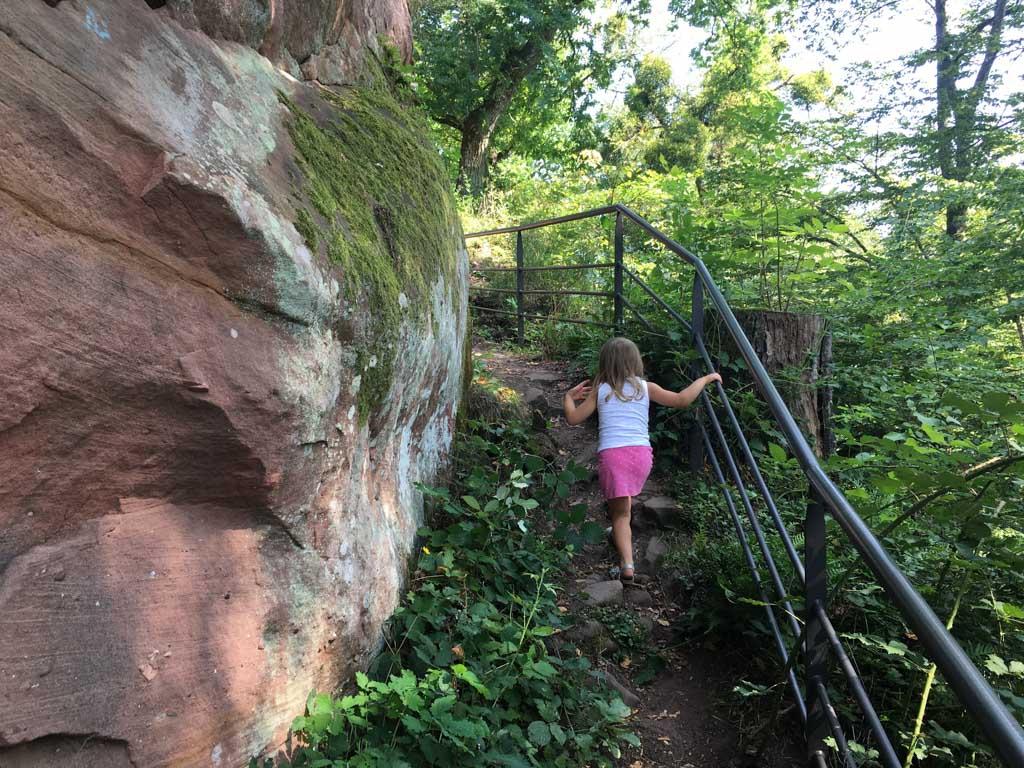 Elin vindt het klimmen erg leuk