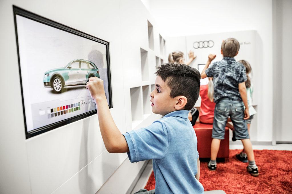 Audi heeft volop vermaak voor jong en oud (©  AUDI AG).