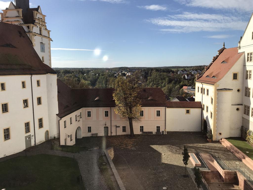 Schloss colditz uitzicht