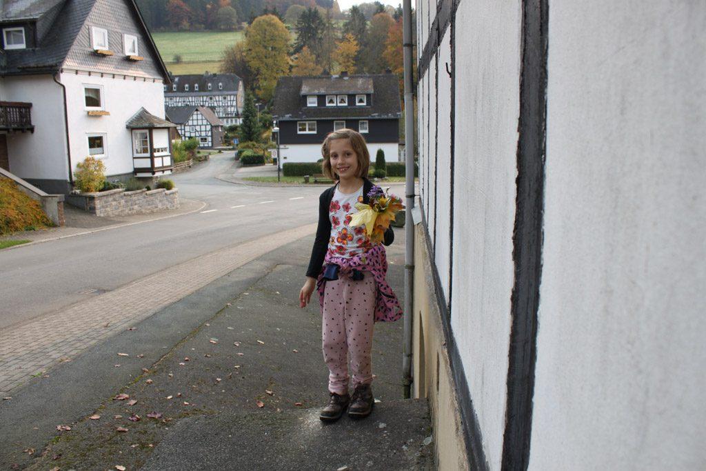De eerste vakwerkhuizen van Elkeringhausen.