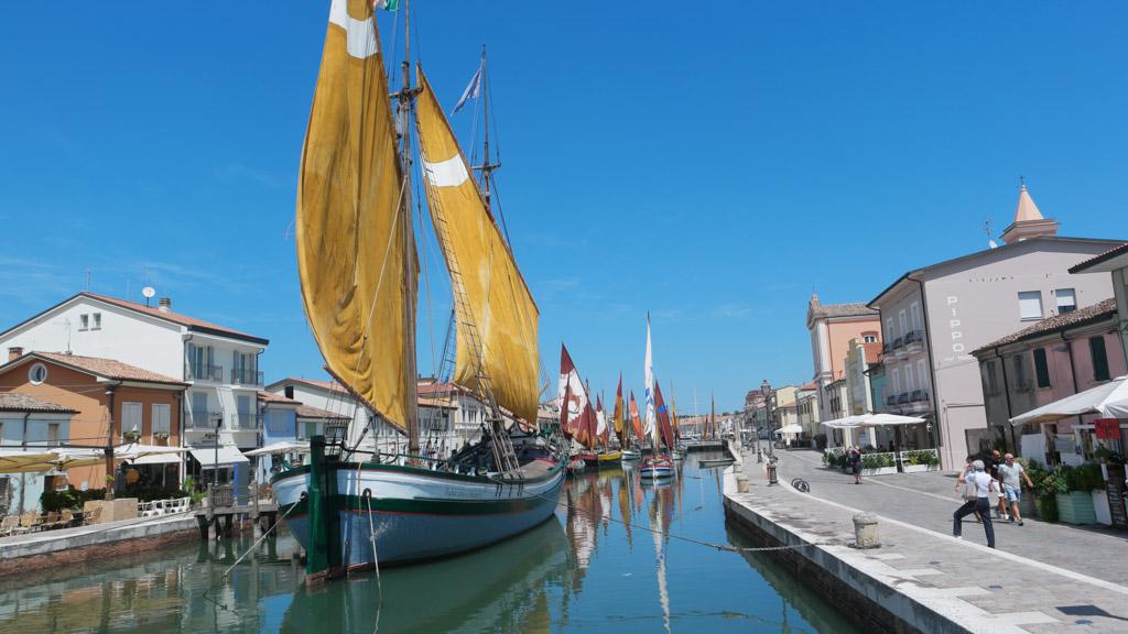 De oude haven van Cervia.