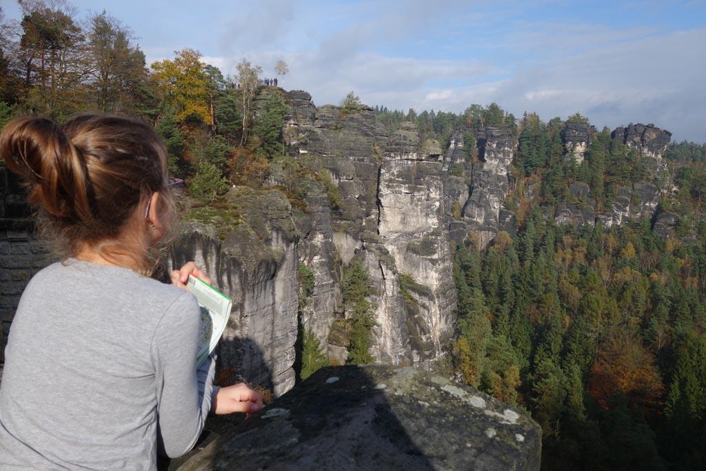 Sächsische schweiz genieten van het uitzicht