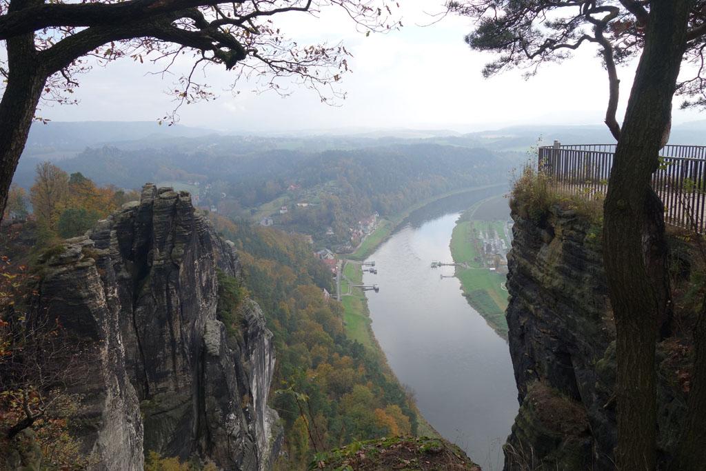 Sächsische Schweiz uitzicht op de Elbe