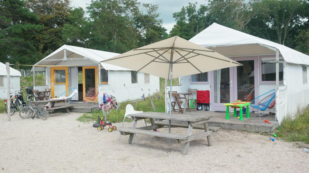 Glamping kan ook op Camping Bakkum.