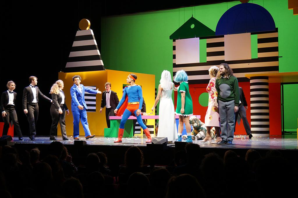 De hele familie op het podium