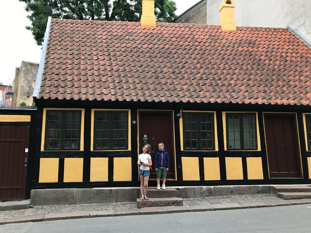 Het ouderlijke huis van H.C. Andersen, de bekende sprookjesschrijver.