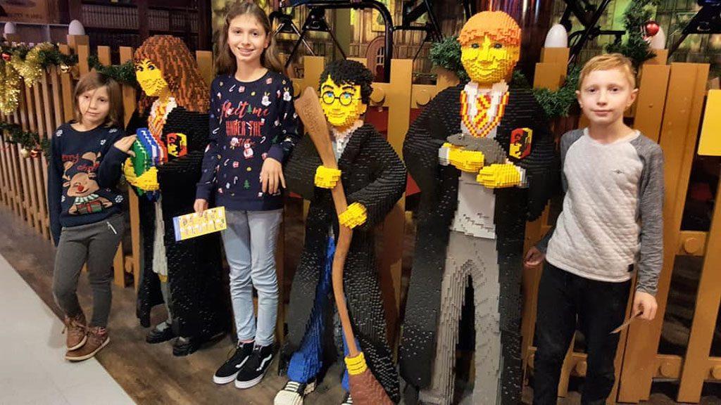 Ze willen alledrie met Harry Potter en vrienden op de foto.