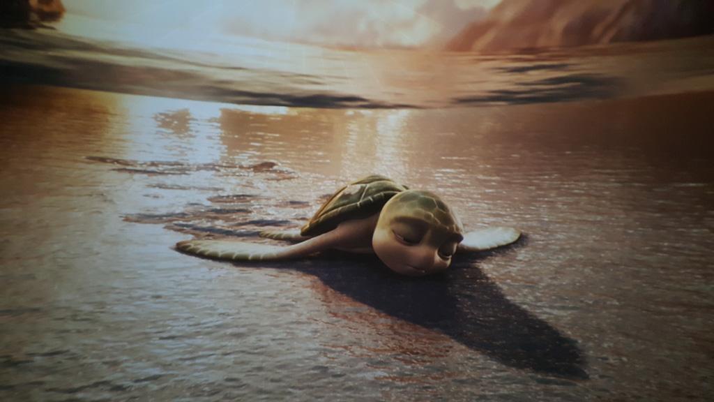 Ahhh zielige Sammy helemaal alleen aangespoeld op een strand. Als dat maar goed afloopt.