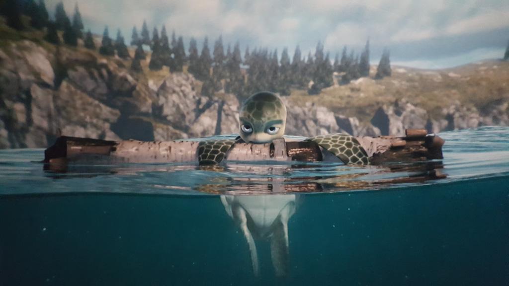 Je wordt letterlijk meegenomen onder water de oceaan in.
