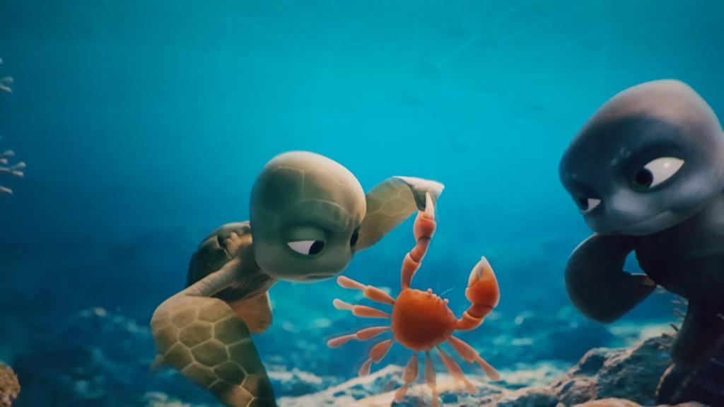 Prachtige onderwaterbeelden in Sammy's Avonturen in het Omniversum.