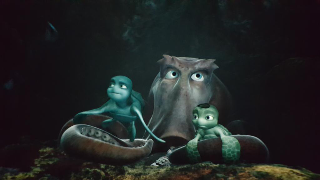 De octopus die Sammy en Ray tijdens hun avontuur ontmoeten.
